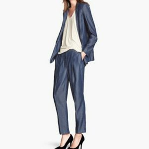 NWT H&M denim lyocell blazer + pants set suit 2